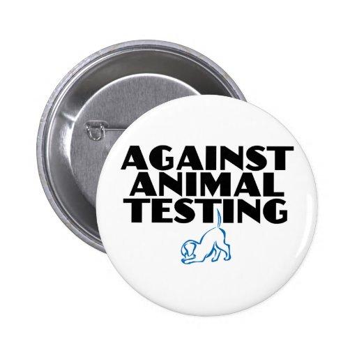 Contra ensayos con animales pin redondo de 2 pulgadas