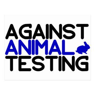Contra ensayos con animales postales