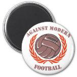 Contra fútbol moderno imán redondo 5 cm