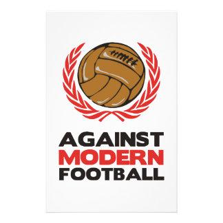 Contra fútbol moderno papelería personalizada