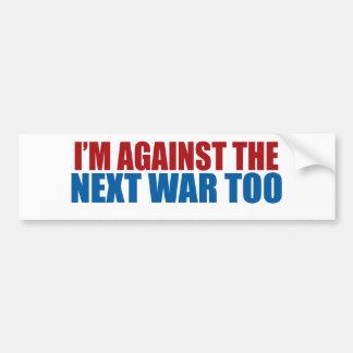 contra la guerra siguiente también pegatina para auto