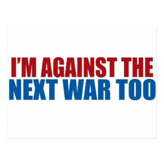 contra la guerra siguiente también postal