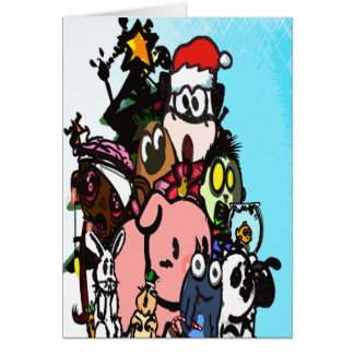 Contra la tarjeta de Navidad animal de la crueldad