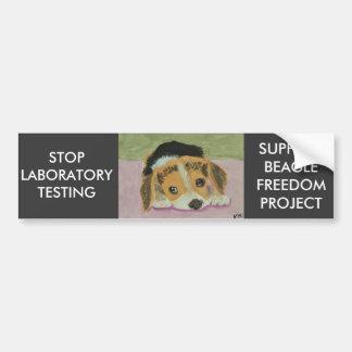 Contra los ensayos con animales Bumpersticker Pegatina De Parachoque