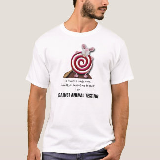 Contra los ensayos con animales - la camiseta de