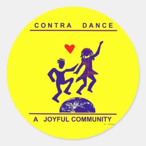 Contra los regalos de la danza etiqueta redonda