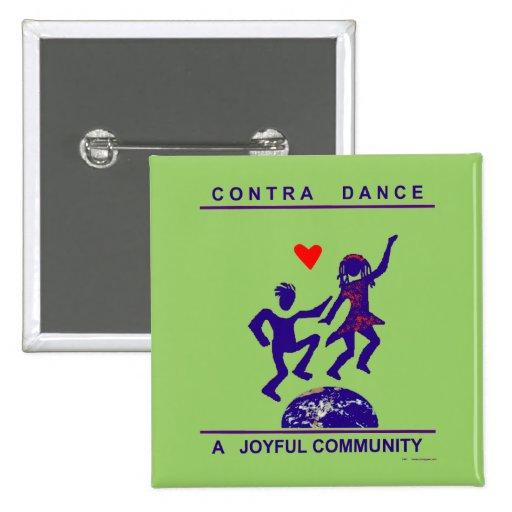Contra los regalos de la danza pin cuadrada 5 cm