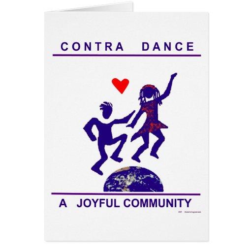 Contra los regalos de la danza tarjeta de felicitación