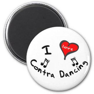 Contra los regalos del baile - corazón de I contra Imán Redondo 5 Cm