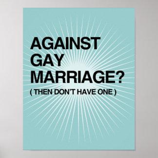 CONTRA MATRIMONIO HOMOSEXUAL - ENTONCES POSTER