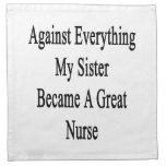 Contra todo mi hermana hizo gran enfermera servilletas imprimidas