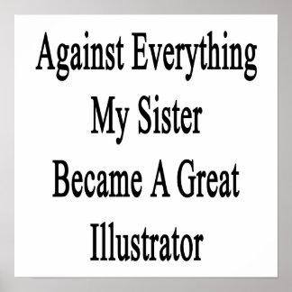 Contra todo mi hermana hizo un gran Illust Impresiones