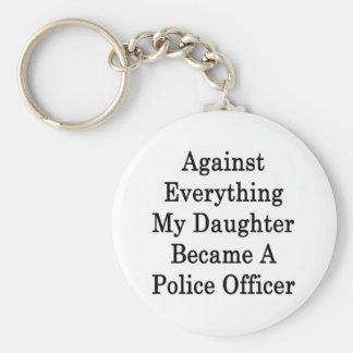 Contra todo mi hija hizo una policía apagado llaveros