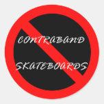 Contraband Skateboard - Sticker