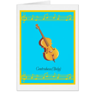 contrabass greeting cards