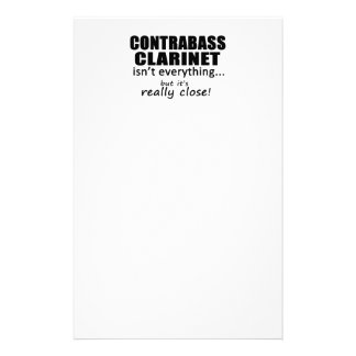 Contrabass Clarinet Isn't Everything Personalized Stationery