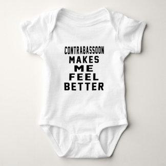 Contrabassoon Makes Me Feel Better Baby Bodysuit