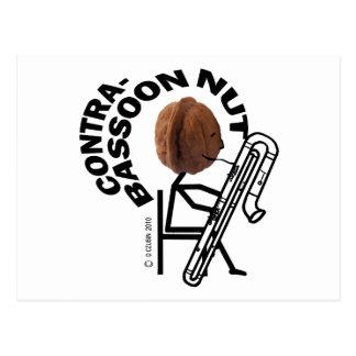 Contrabassoon Nut Postcard