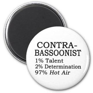 Contrabassoonist Hot Air Fridge Magnet