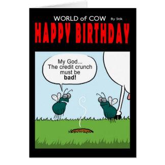 Contracción del crédito del feliz cumpleaños tarjeta de felicitación