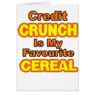 Contracción del crédito divertida tarjeta de felicitación