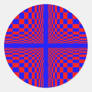 contracción pegatina redonda