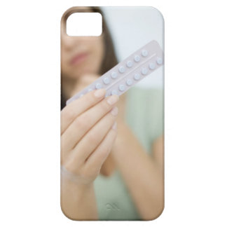 Contraceptive pills in a woman's hand. iPhone SE/5/5s case