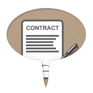 Contract Icon Cake Topper