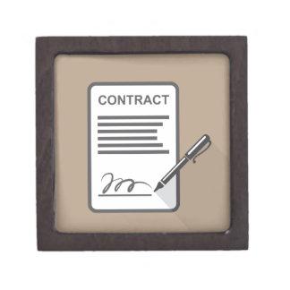 Contract Icon Keepsake Box
