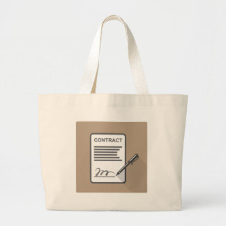 Contract Icon Large Tote Bag