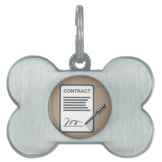 Contract Icon Pet ID Tag
