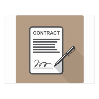 Contract Icon Postcard