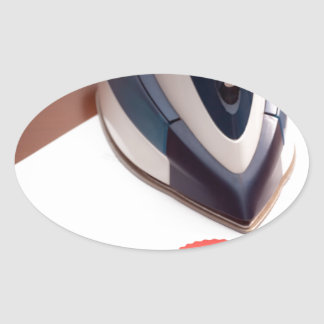 Contract ironing oval sticker