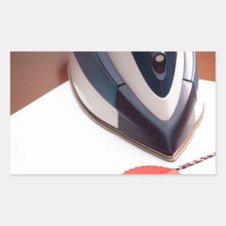 Contract ironing rectangular sticker