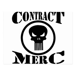 Contract Merc Mercenary Postcard