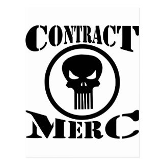 Contract Merc Mercenary Postcard