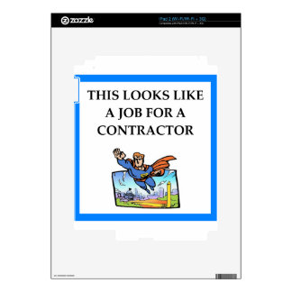 CONTRACTOR DECAL FOR iPad 2