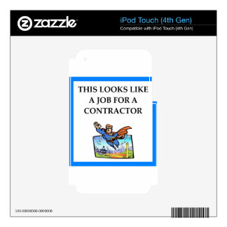 CONTRACTOR DECAL FOR iPod TOUCH 4G