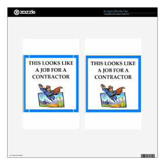 CONTRACTOR DECALS FOR KINDLE FIRE