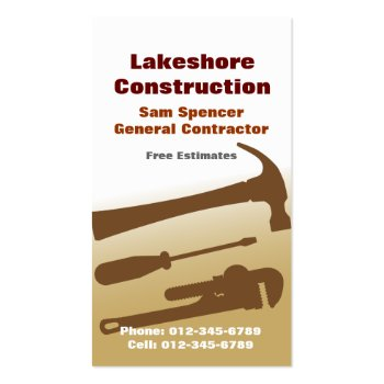 Contractor/ Remodeling Business Card