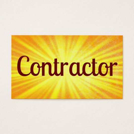 Contractor Sunshine Business Card