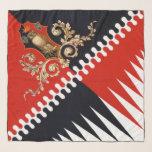 """Contrada Priora della Civetta (Owl) Palio di Siena Scarf<br><div class=""""desc"""">Contrada Priora della Civetta (Owl) Palio di Siena flag banner</div>"""