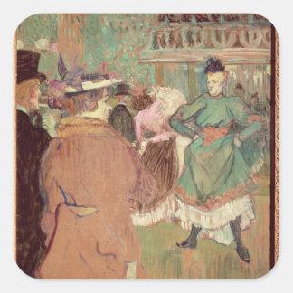 Contradanza en el colorete, 1892 pegatina cuadrada