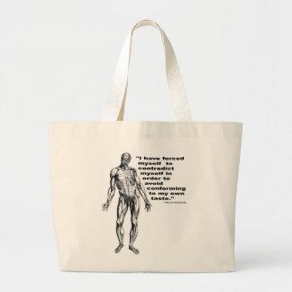 Contradict Myself Large Tote Bag