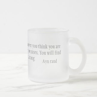 Contradictions Frosted Glass Coffee Mug