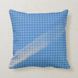 Contrail I - Blue Throw Pillow