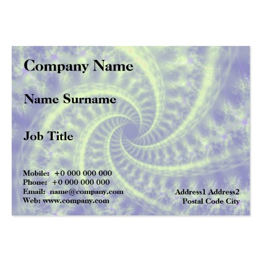 Contrail Spiral Chubby Business Card