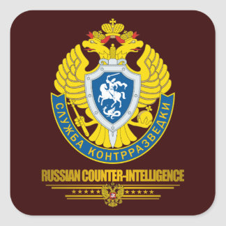 Contrainteligencia rusa pegatina cuadrada