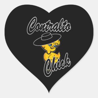 Contralto Chick #4 Heart Sticker