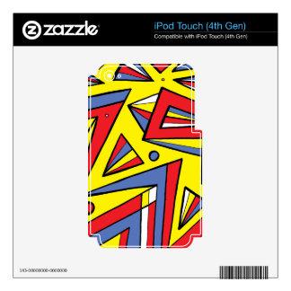 Contrapesado valorado el famoso calcomanía para iPod touch 4G